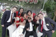 WITH GROOMSMEN and BRIDESMAIDS