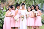 the bride & her bridesmaids